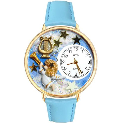 Angel with Harp Watch in Gold (Large) - Watchesfixx Ladies watches