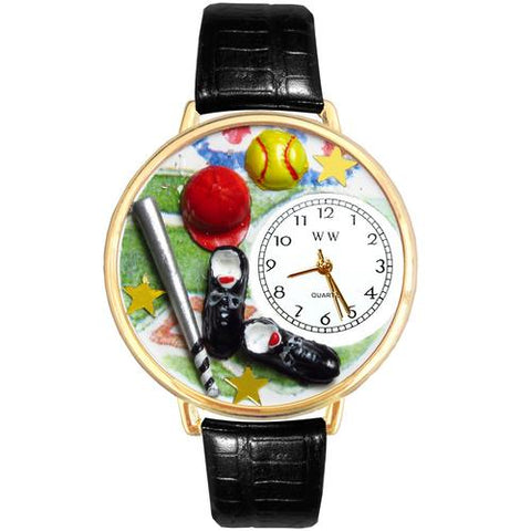 Softball Watch in Gold (Large) - Watchesfixx Ladies watches