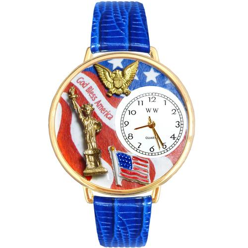 July 4th Patriotic Watch in Gold (Large) - Watchesfixx Ladies watches
