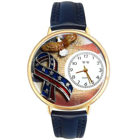American Patriotic Watch in Gold (Large) - Watchesfixx Ladies watches