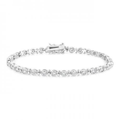 Alternating Bezel Cubic Zirconia Bracelet (pack of 1 ea) - Watchesfixx Bracelets