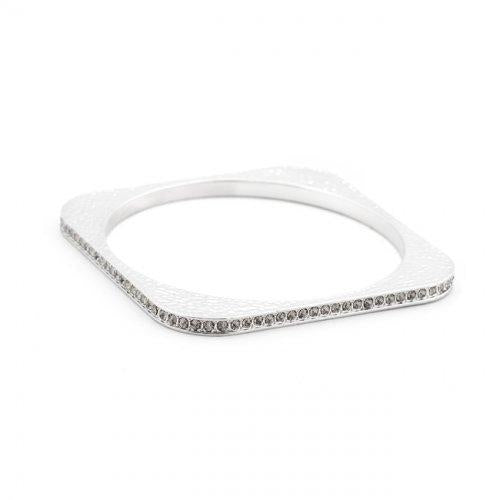 Hammered Cz Square Bangle (pack of 1 ea) - Watchesfixx Bracelets