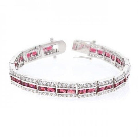Balboa Red Cz Bracelet (pack of 1 ea) - Watchesfixx Bracelets