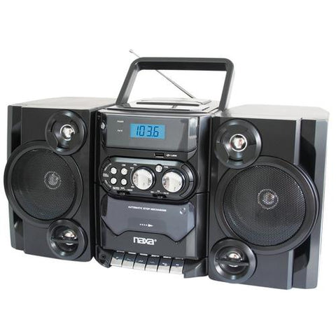 Naxa Portable MP3/CD Player W/ AM/FM Stereo Radio Cassette Player/Recorder - Watchesfixx Home Stereo Systems