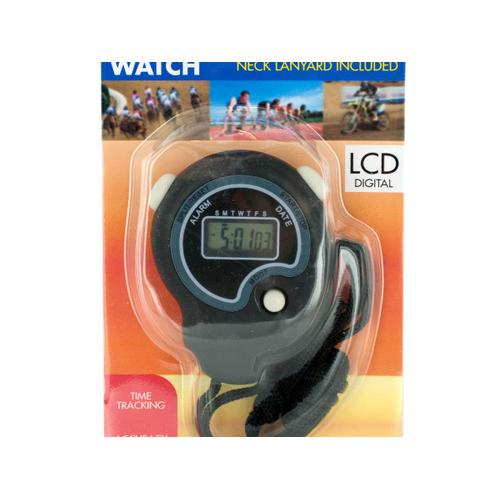 Sport Stopwatch with Neck Cord ( Case of 10 ) - Watchesfixx Exercise equipment
