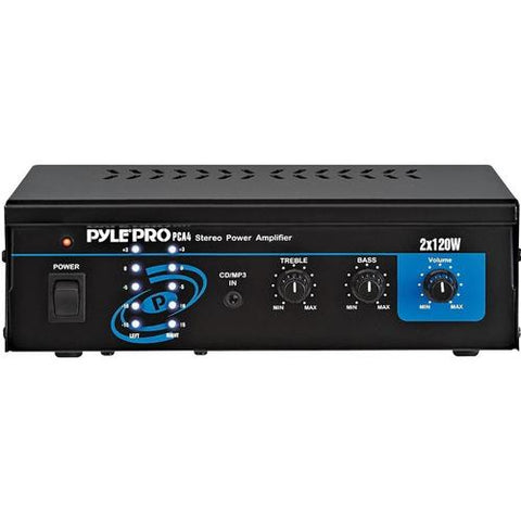 Pyle PCA4 Mini 2x120 Watt Stereo Power Amplifier - Watchesfixx Home Stereo Systems