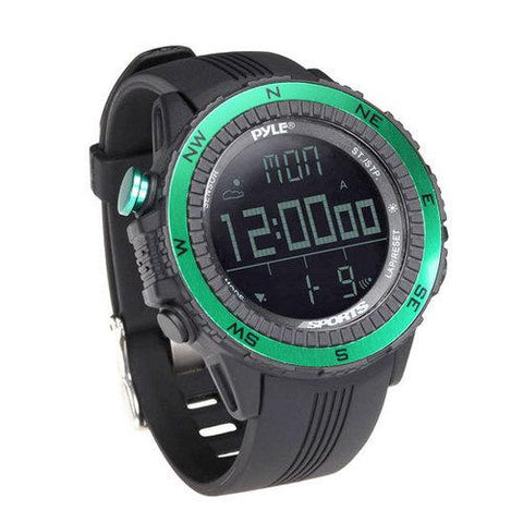 Digital Multifunction Active Sports Watch with Altimeter, Barometer, Chronograph, Compass, Count-Down Timer, Measuring & Weather Forecast Modes (Green) - Watchesfixx Sports watches