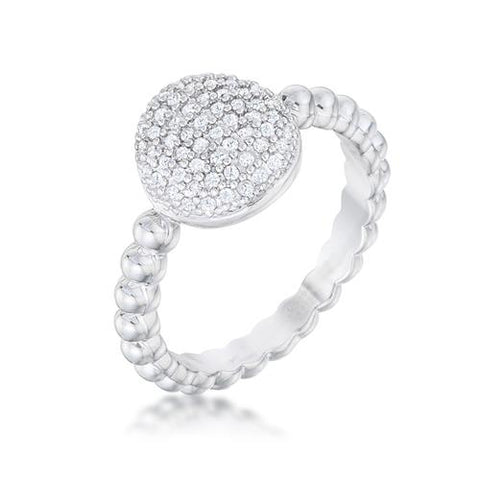 Stunning CZ Rhodium Ring - Watchesfixx Rings
