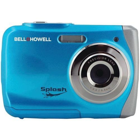 Bell+howell 12.0-megapixel Wp7 Splash Waterproof Digital Camera (blue) (pack of 1 Ea) - Watchesfixx Cameras and camcorders