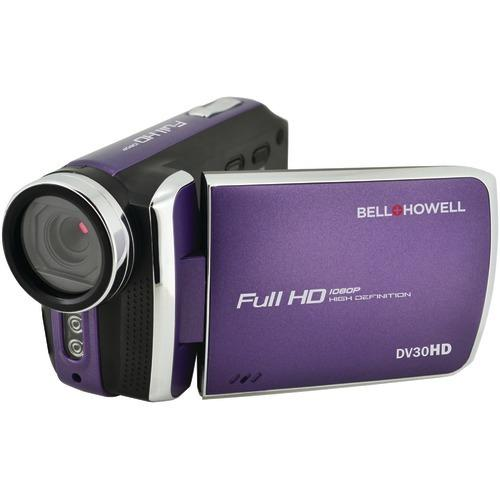 Bell+howell 20.0-megapixel 1080p Dv30hd Fun Flix Slim Camcorder (purple) (pack of 1 Ea) - Watchesfixx Cameras and camcorders