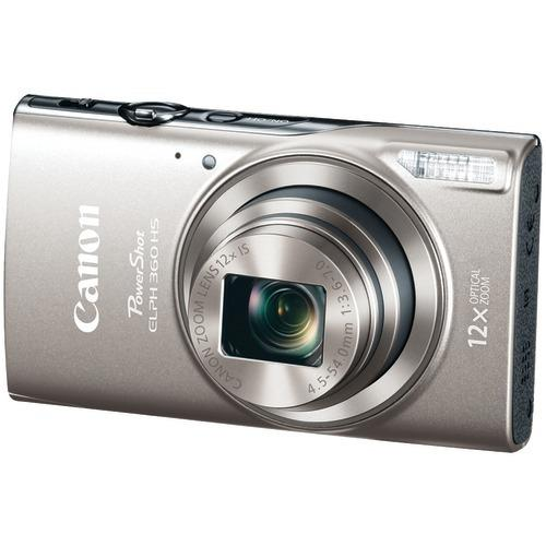 Canon 20.2-megapixel Powershot Elph 360 Hs Digital Camera (silver) (pack of 1 Ea) - Watchesfixx Cameras and camcorders
