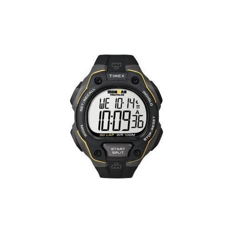 Mens Ironman 50-lap Blk and Yellow Digital - Watchesfixx TIMEX