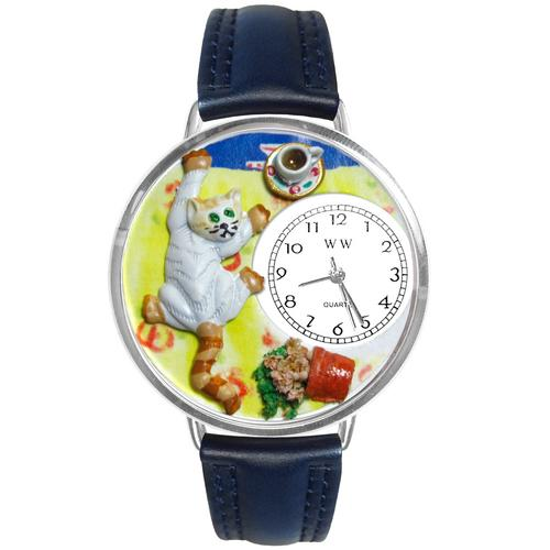 Bad Cat Watch in Silver (Large) - Watchesfixx Ladies watches