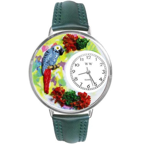 African Grey Parrot Watch in Silver (Large) - Watchesfixx Ladies watches