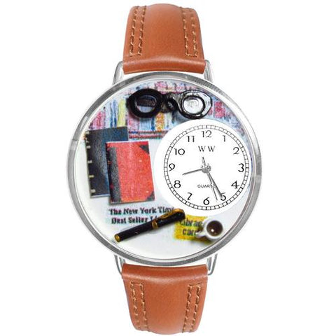 Book Lover Watch in Silver (Large) - Watchesfixx Ladies watches