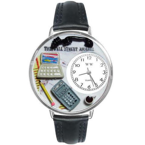 Accountant Watch in Silver (Large) - Watchesfixx Ladies watches