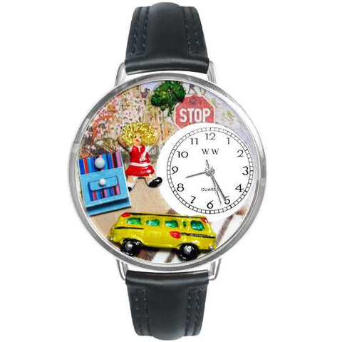 School Bus Driver Watch in Silver (Large)