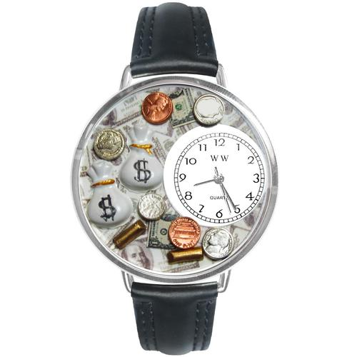 Banker Watch in Silver (Large) - Watchesfixx Ladies watches