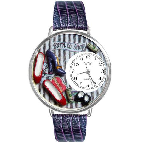 Shoe Shopper Watch in Silver (Large) - Watchesfixx Ladies watches