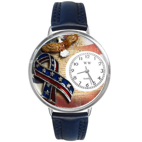 American Patriotic Watch in Silver (Large) - Watchesfixx Ladies watches