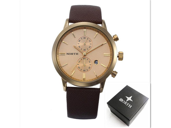 2016 Mens Watches Top Brand Luxury Quartz  Watch Casual Leather Sports Wrist watch Montre Homme Male Clock relogio masculino - Watchesfixx Watches