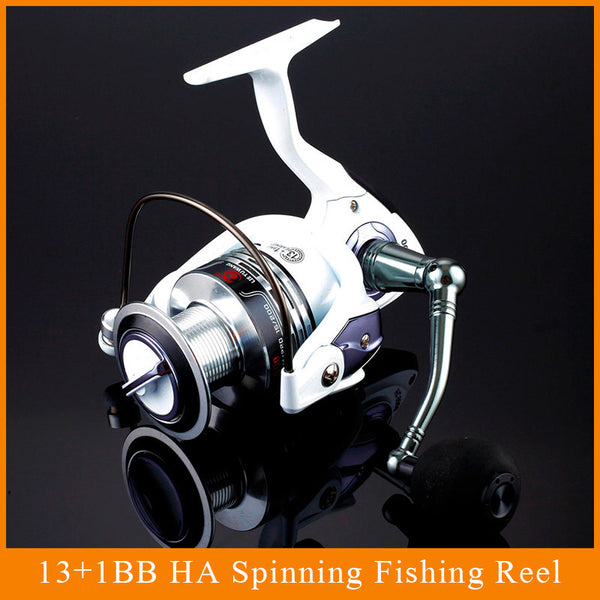 HOT SALE!! 12+1 Bearing Balls Spinning reel fishing reel YA2000-YA5000 5.5:1 spinning reel casting fishing reel lure tackle line - Watchesfixx Reels Fishing