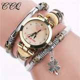 CCQ Fashion Vintage Cow leather Bracelet Watches Casual Women Multi-layer Wristwatch Quartz Watch Relogio Feminino Gift 2062 - Watchesfixx