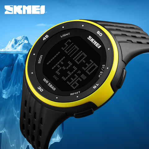 Men Sport Watches SKMEI Brand 50m Waterproof Digital LED Military Watch Women Outdoor Electronics Wristwatches Relogio Masculino - Watchesfixx Dual Display Wristwatches