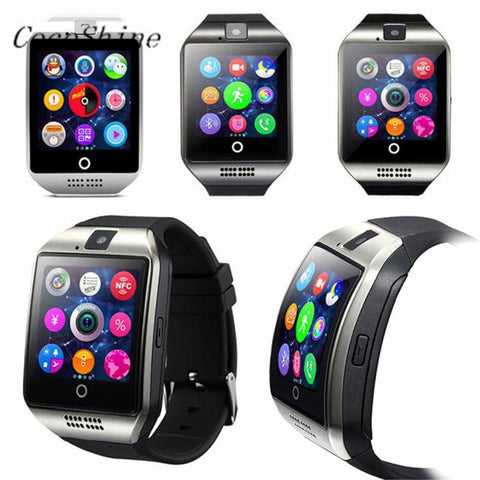 A-ZN8 High Quality Luxury Fashion Q18S Smart Bluetooth Watch GSM Camera TF Card Wristwatch for Samsung - Watchesfixx Digital Wristwatches