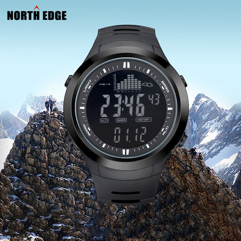 Digitalwatch Men Watches Outdoor Digital watch Clock Fishing Altimeter Barometer Thermometer Altitude Climbing Hiking Hours NE2. - Watchesfixx Digital Wristwatches