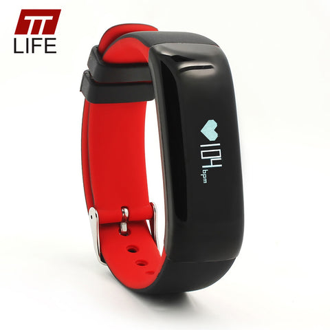 TTLIFE High Quality P1 Bluetooth 4.0 Smart Wristband Blood Pressure Monitor Wearable Heart Rate Monitor Smart Bracelet For Phone - Watchesfixx Digital Wristwatches