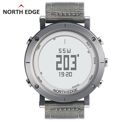 NORTHEDGE Men's Sports Digital Watch Running Swimming Hiking Mountain Climbing Smart Watch Altimeter Barometer NE8.