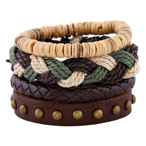 European Style Retro Diy Bracelets High Quality Unique Design Leather Bracelets For Men and women christmas gifts