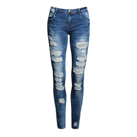 Skinny Jeans Women 2016 New Summer Style Women Jeans Fashion Holes Denim Harem Pants Ripped Jeans Woman - Watchesfixx