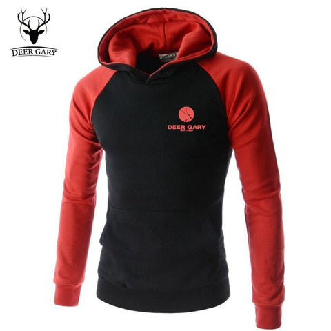 Men's Hoodie Casual Men Sweatshirt Brand Leisure Suit Patchwork Slim Hoodie Jacket Men Sportswear Pullover Men Outwear