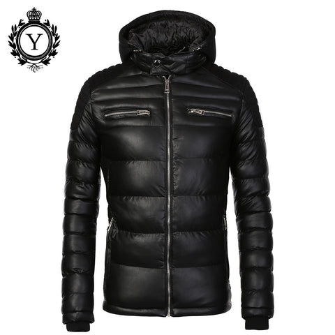 COUTUDI New Fashion Men's Winter jacket Warm Hooded Down Coat Jacket For Men High Quality Windbreaker Outwear Parkas - Watchesfixx Down & Parkas