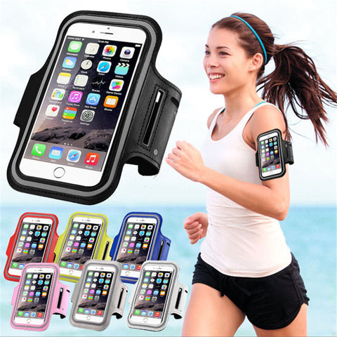 Waterproof PU Sports Running Arm Band Phone Case Holder Pouch For iPhone   Workout Gym Cover Bag