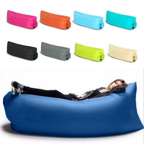 Fast inflatable air sofa 100% waterproof Sleeping Bag Air Sofas Camping Beach Sofa Lounger Bed Banana Lazy bags Outdoor