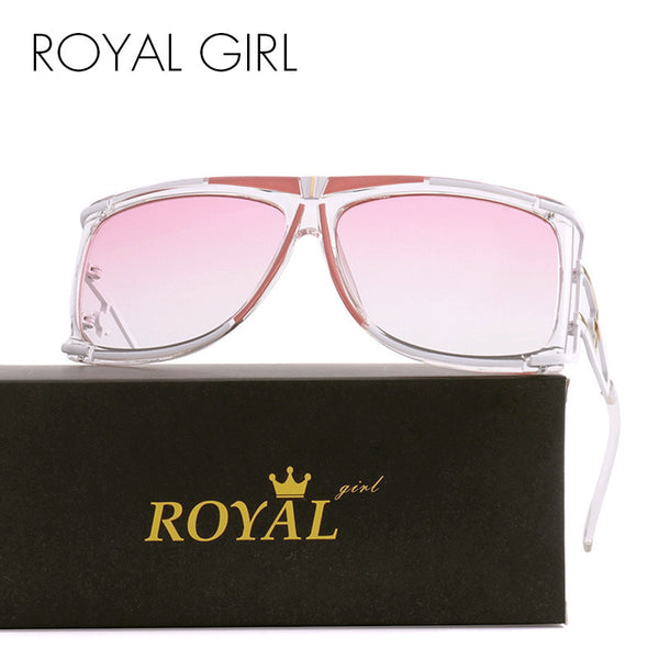 ROYAL GIRL 2017 New Vintage Men Brand Designer Sunglasses Vintage Oversize Sun glasses Metal Frame Oculos Glasses ss390 - Watchesfixx