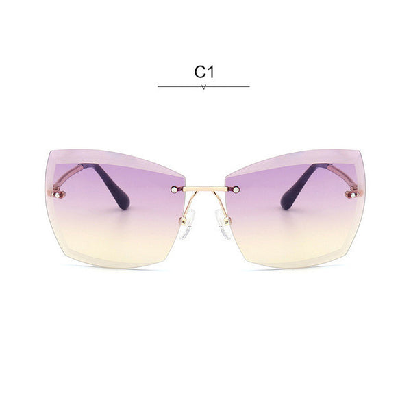 ROYAL GIRL Rimless Women Sunglasses Square Vintage Ombre 2017 Summer Glasses ss187 - Watchesfixx