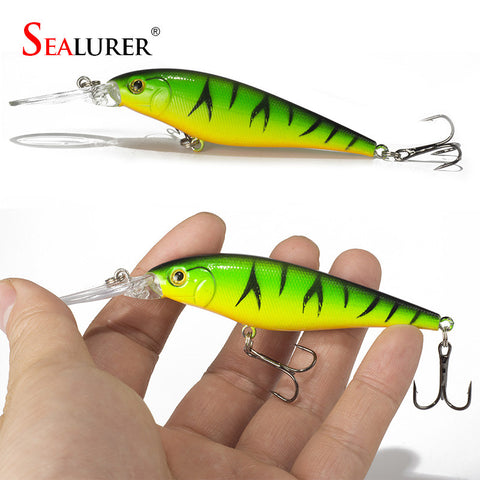 Super Quality  5 Colors 11cm 10.5g Hard Bait Minnow Fishing lures Bass Fresh Salt water 4#hook