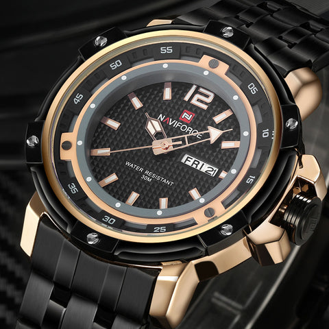 2016 New Brand Fashion Men Sports Watches Men's Quartz Hour Date Clock Man Stainless Steel Military Army Waterproof Wrist watch