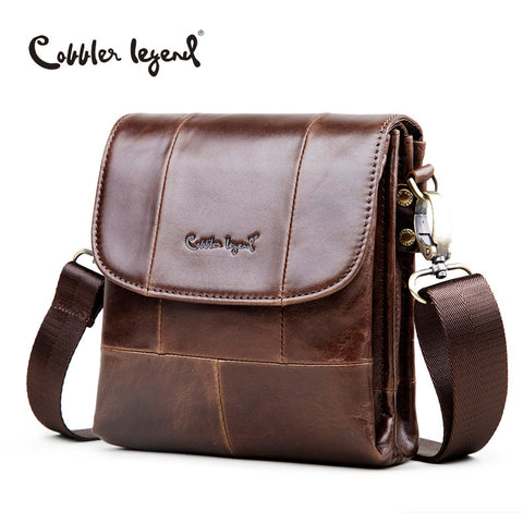 Cobbler Legend Original Real Cowhide Leather Men Bag For Man 2016 New Vintge Style Men's Mini Cross Body Shoulder Bags #911048