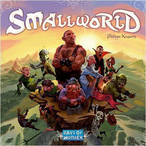 """Small World"" is a fun, zany, light-hearted civilization game in which 2-5 players vie for conquest and control of a board that is simply too small to accommodate them all!