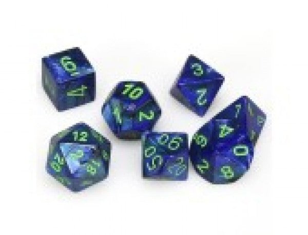 Dm8 Poly Lustrous Dark Blue/Green (7) | Phoenix Comics and Games