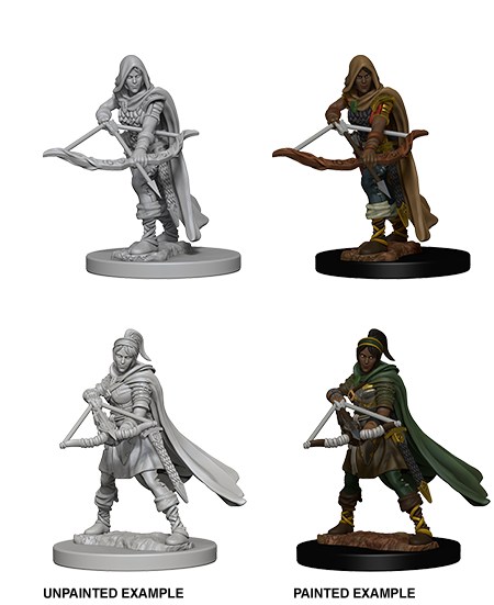 DUNGEONS AND DRAGONS: NOLZUR'S MARVELOUS UNPAINTED MINIATURES -W1-FEMALE HUMAN RANGER | Phoenix Comics and Games