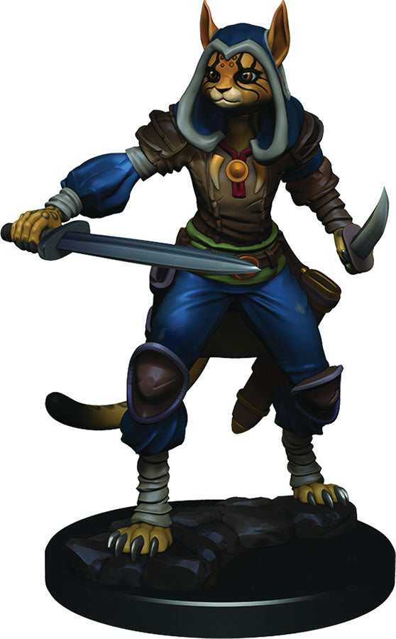 DUNGEONS & DRAGONS FANTASY MINIATURES: ICONS OF THE REALMS PREMIUM FIGURES W3 FEMALE TABAXI ROGUE | Phoenix Comics and Games
