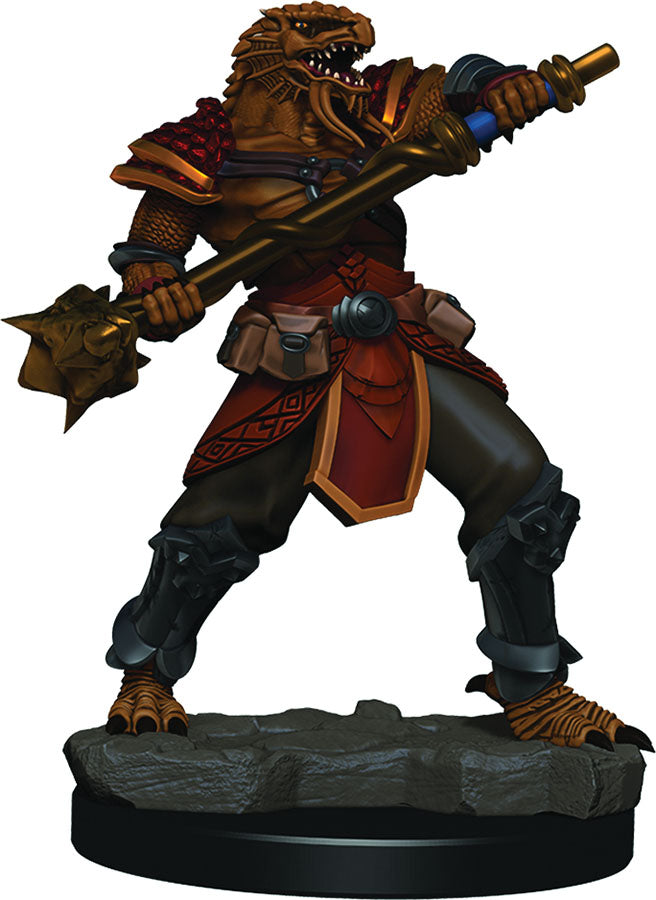 DUNGEONS & DRAGONS FANTASY MINIATURES: ICONS OF THE REALMS PREMIUM FIGURES W3 DRAGONBORN MALE FIGHTER | Phoenix Comics and Games