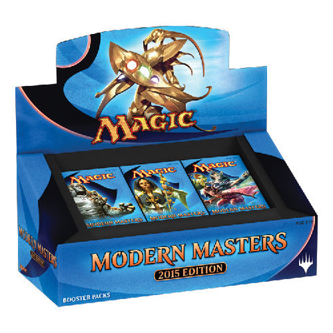 Modern Masters 2015 Edition takes you back to some of your favorite planes from recent history. Spice up your modern-format decks, or host a one-of-a-kind draft with the contents of this box!  Each booster box contains 24 individual boosters. Each booster contains 1 premium card (foil) in addition to 14 regular cards from this fantastic new set.</br>