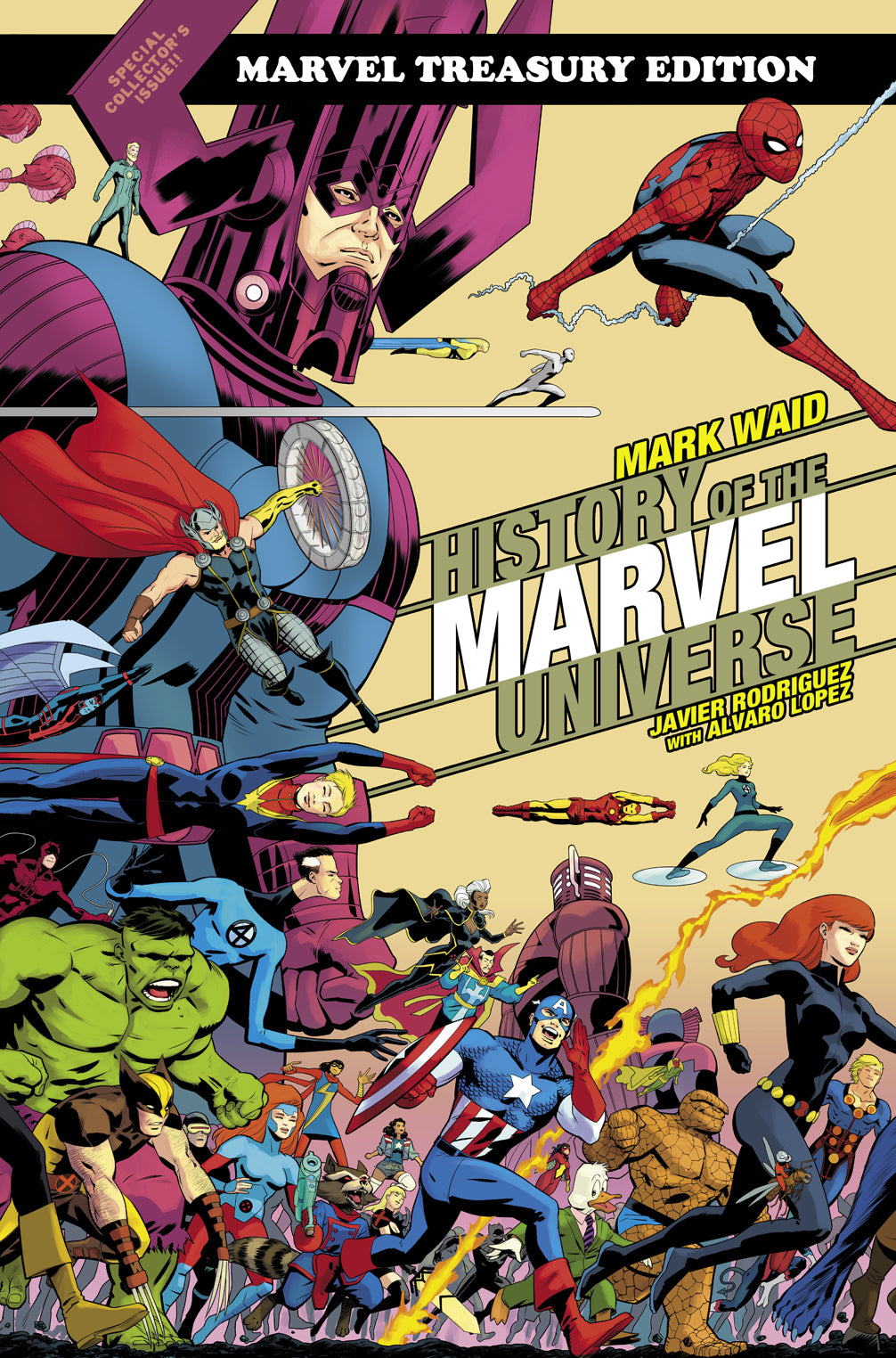 HISTORY OF MARVEL UNIV TREASURY ED TP RODRIGUEZ CVR DM VAR | Phoenix Comics and Games
